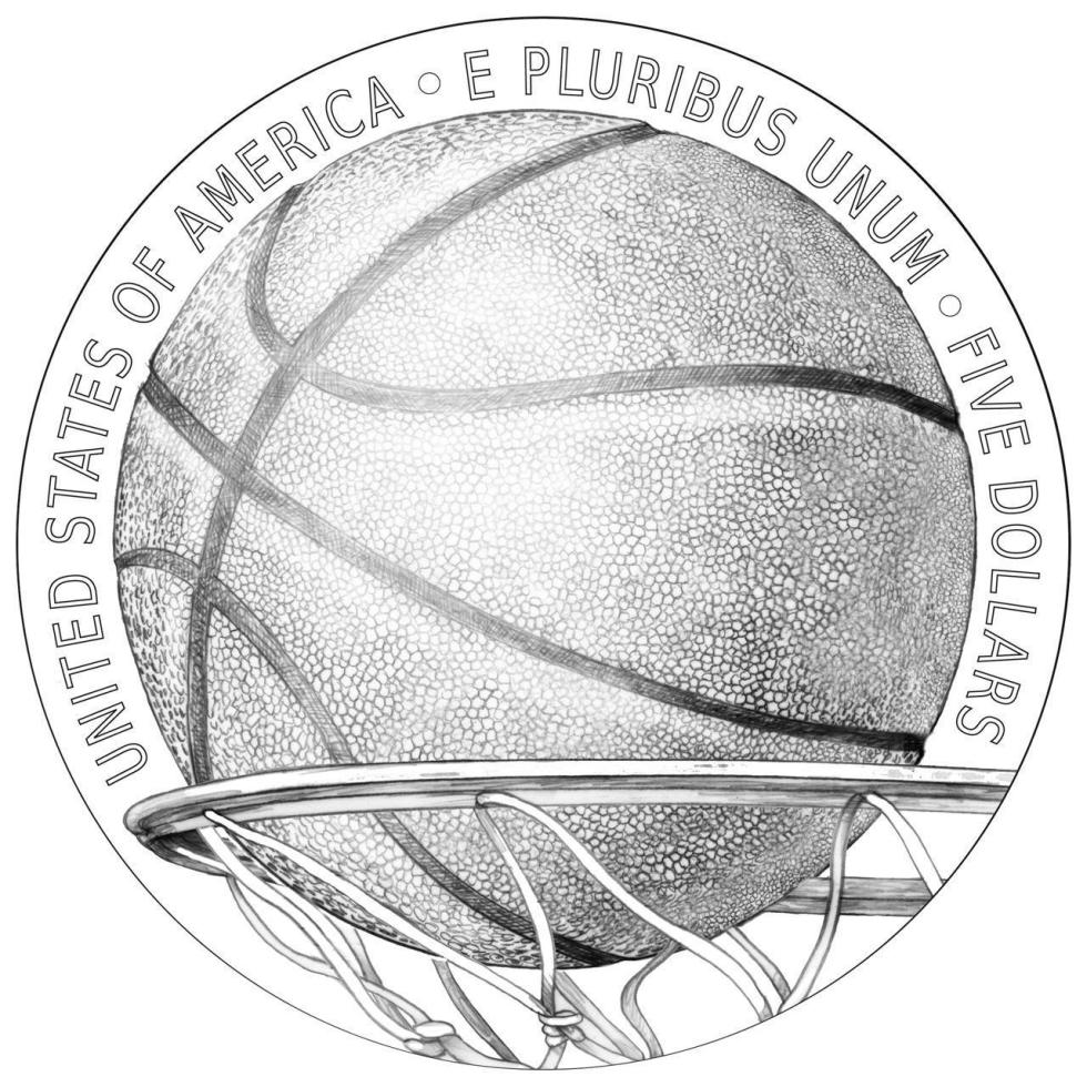 Naismith Memorial Basketball Hall of Fame Commemorative Coin reverse