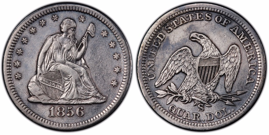 SSCA 1856 S over s PCGS XF45