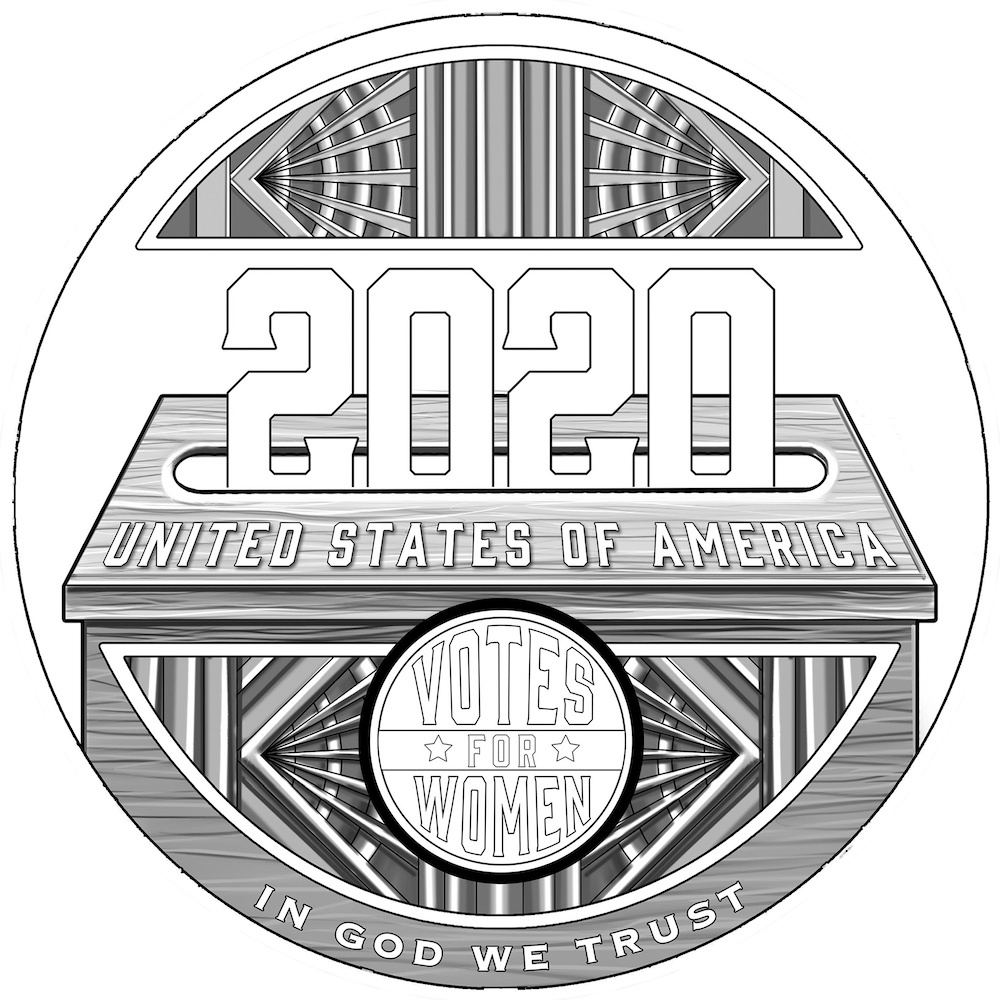 Women's Suffrage Centennial Commemorative Coin Reverse