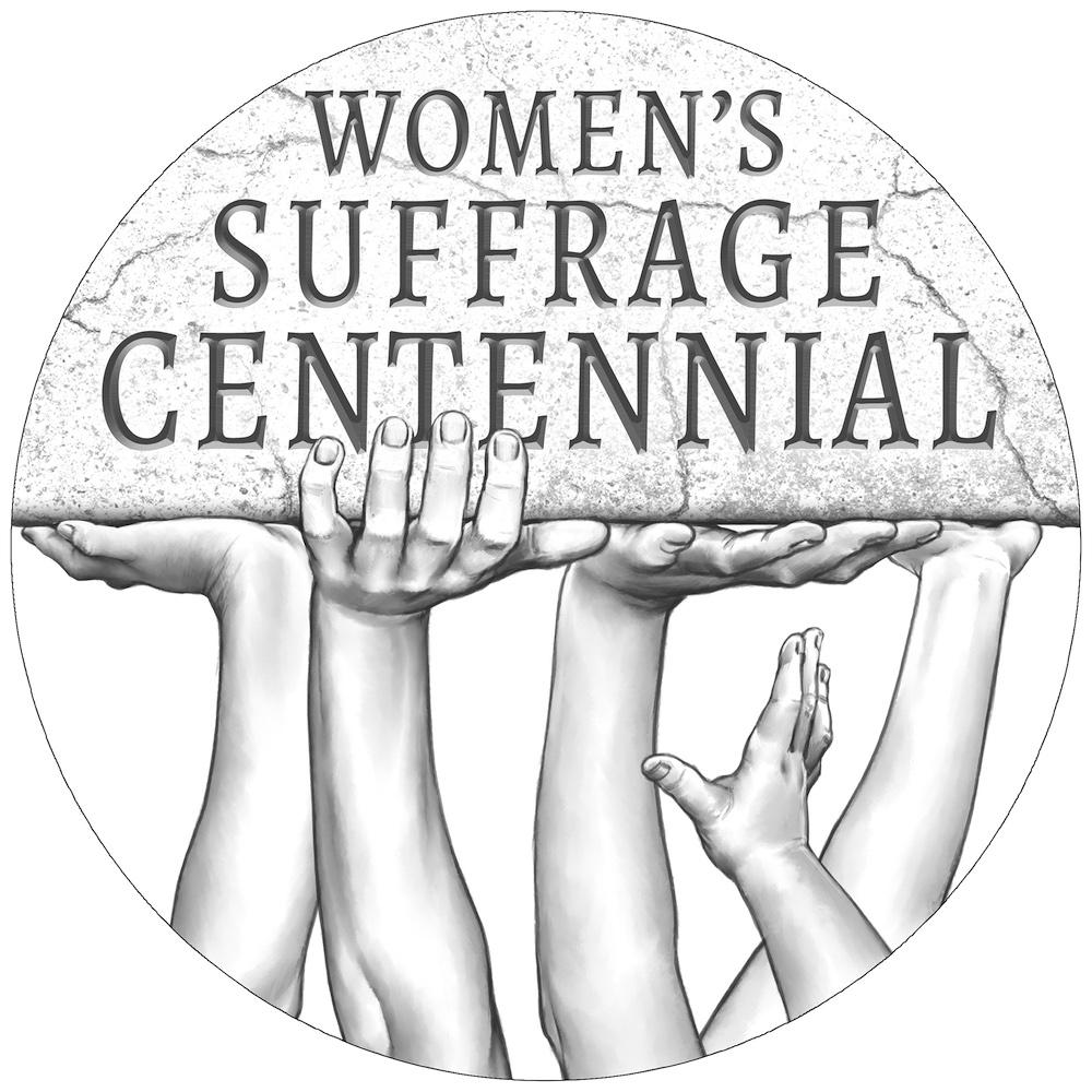 Women's Suffrage Centennial Silver Medal Line Art Obverse