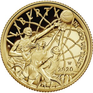 2020 Basketball Hall of Fame $5 Gold Reverse