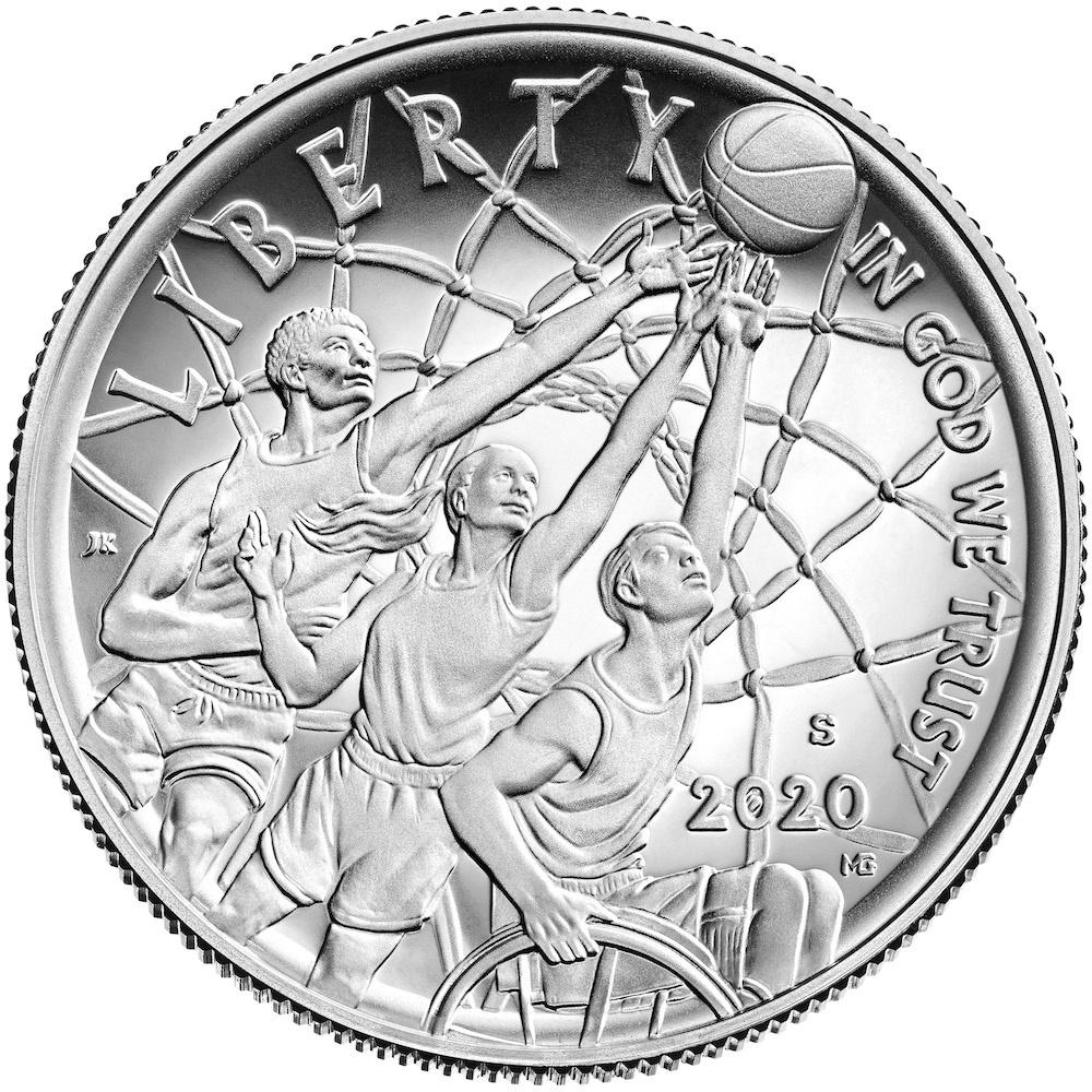 2020 Basketball Hall of Fame Clad Half-Dollar Obverse