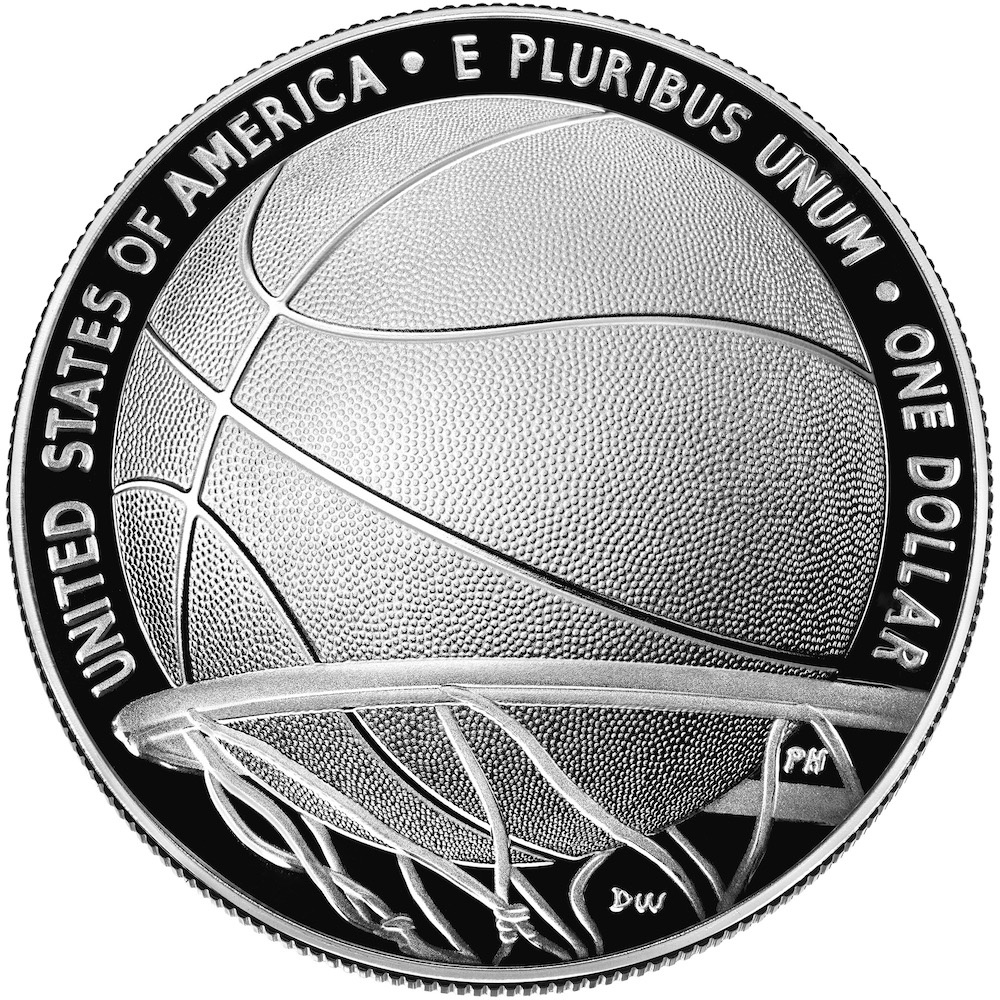 2020 Basketball Hall of Fame Silver Dollar Reverse