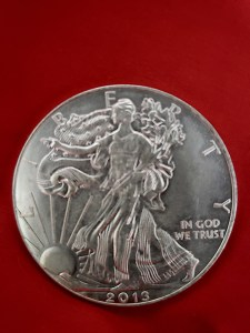 Fake silver Eagle obverse