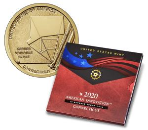 American Innovation 2020 $1 Reverse Proof Coin - Connecticut