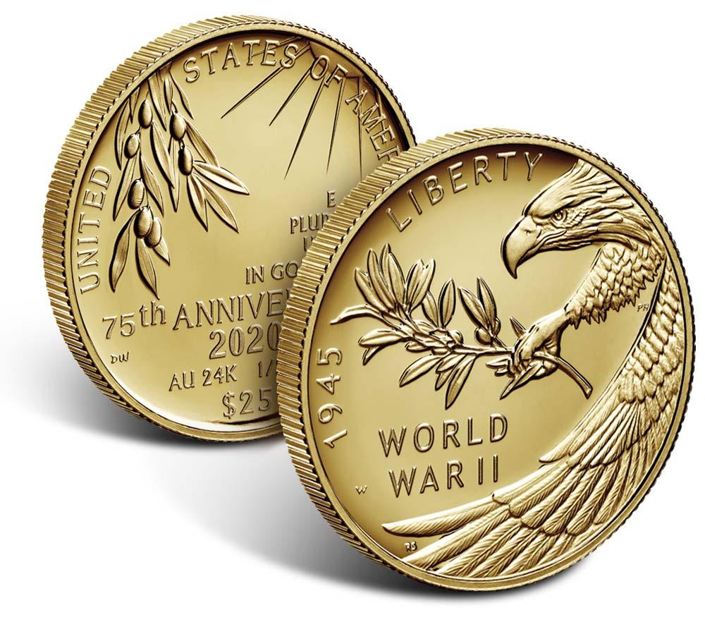 75th anniversary ww2 coin