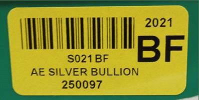 U.S. Mint Error Label on American Silver Eagle bullion boxes