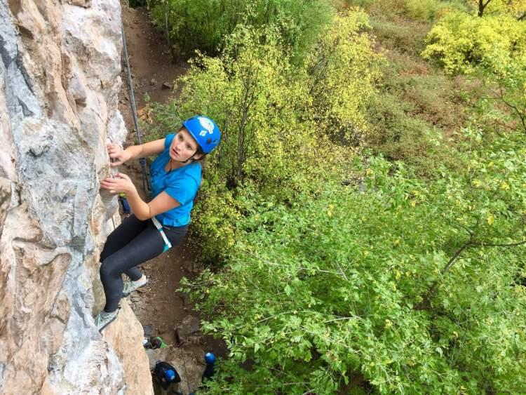 Rifle Mountain Park climbing