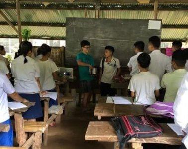 Bennett Liu at the Mae Ra Moe Refugee Camp