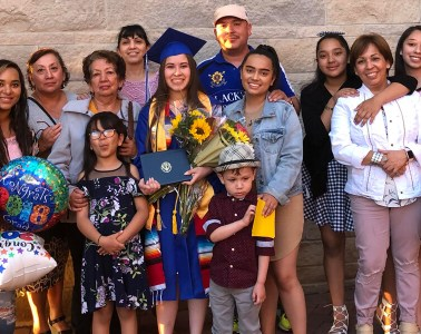 Andrea Hernandez-Perez at her graduation from high school.