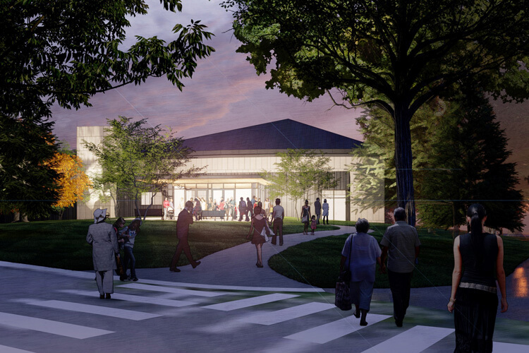 A rendering of the new Performing Arts Center