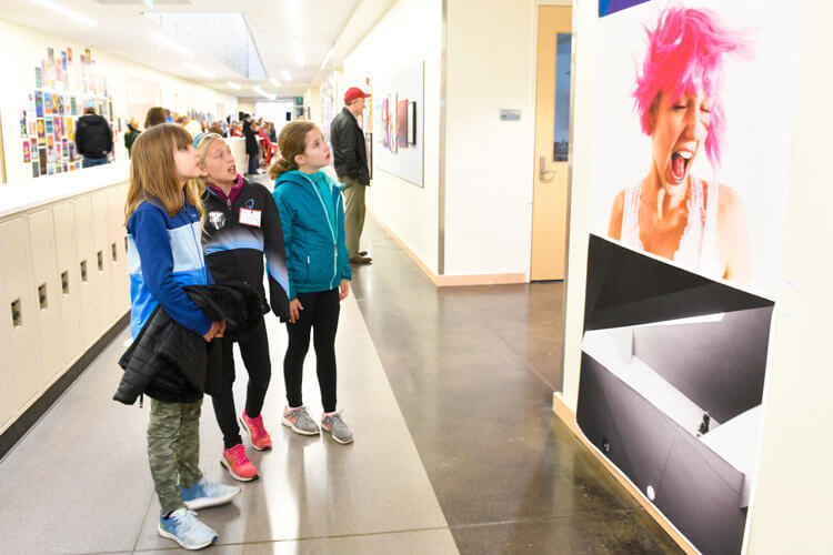 Students from all divisions enjoyed art on display in the Upper School.
