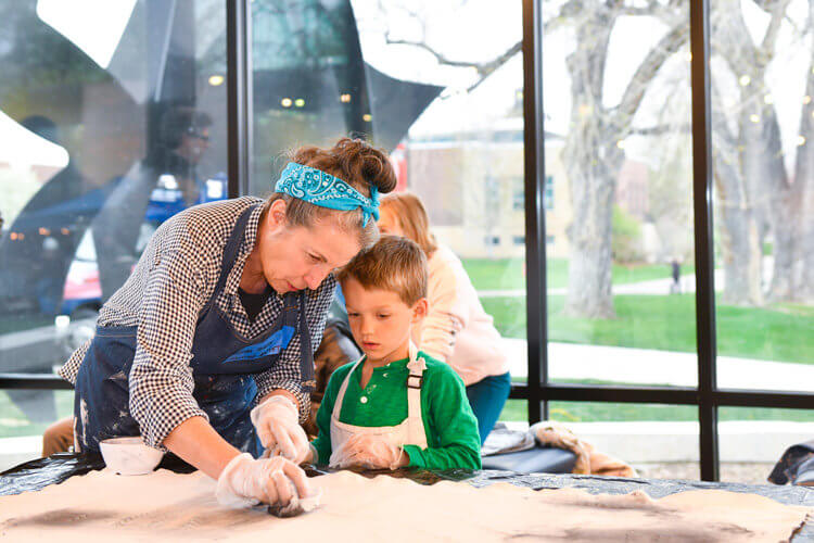 Shira Toren teaching at the All-School Arts Festival