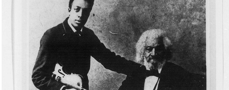 Frederick Douglass with his grandson. (Photo from the Library of Congress)