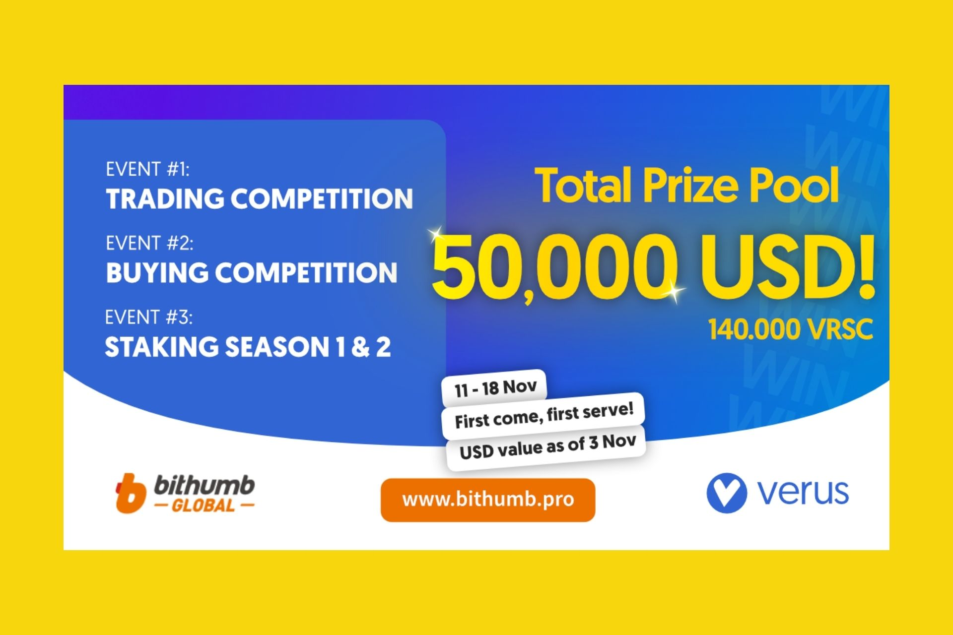 Verus Announces New Exchange Listing, Contests with 140,000 VRSC in Prizes, AMA & Halving