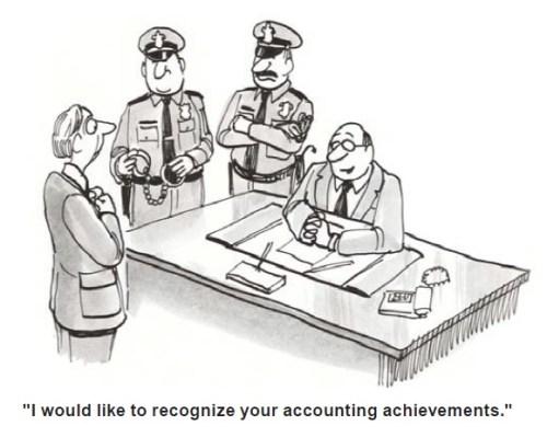 Embezzlement Cartoon