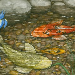 Building A Koi Pond Diagram Nuheat Wiring Ramona Maziarz To Display Detailed Pen And Ink Drawings In