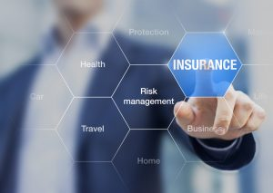 Person presenting insurance concept and risk management