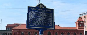 Woman's Suffrage Parade Historical Marker installed