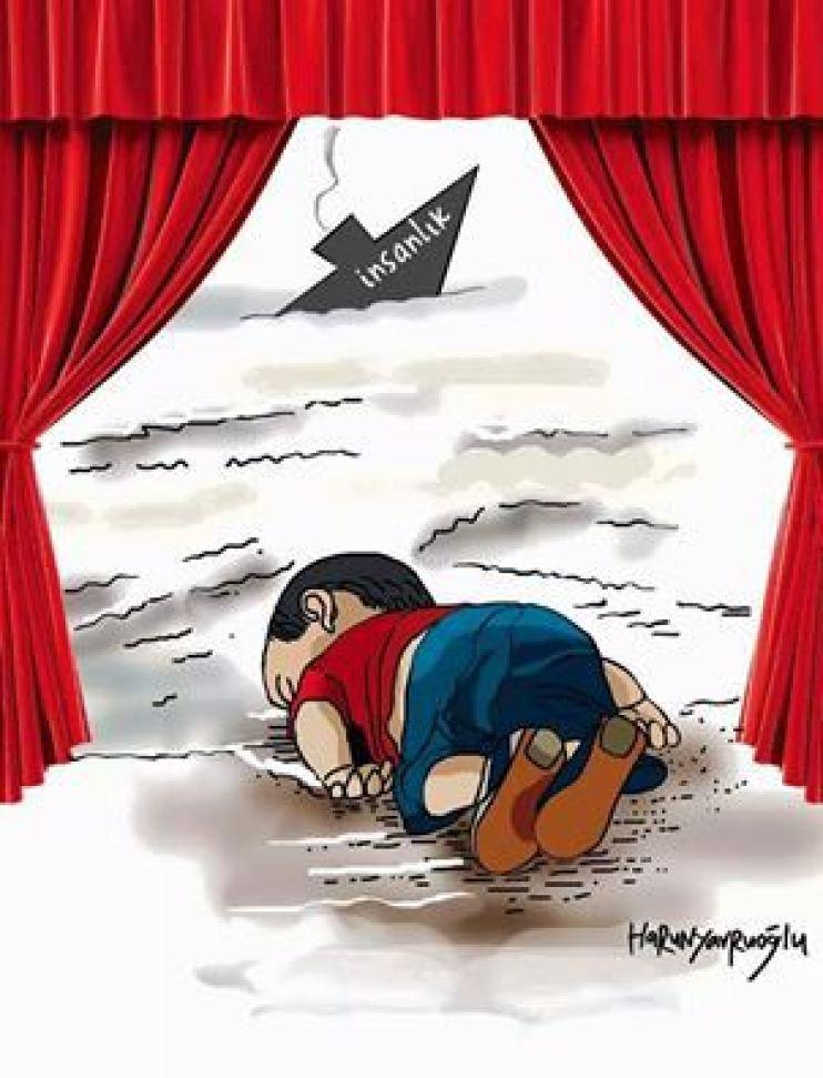 موت الطفل وغرق الانسانية