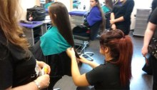 Students get haircuts for Cancer kids