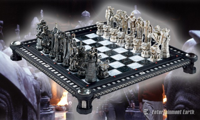 Join Harry Ron and Hermione in a Game of Wizards Chess