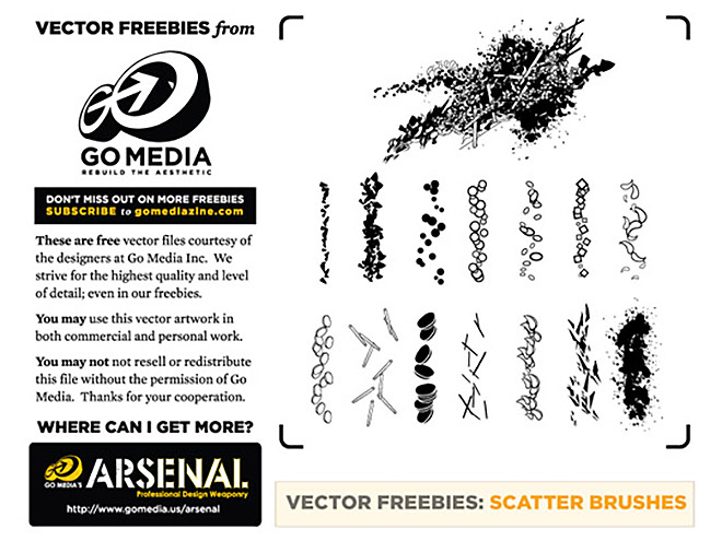 14 Free Scatter Brushes and How-to