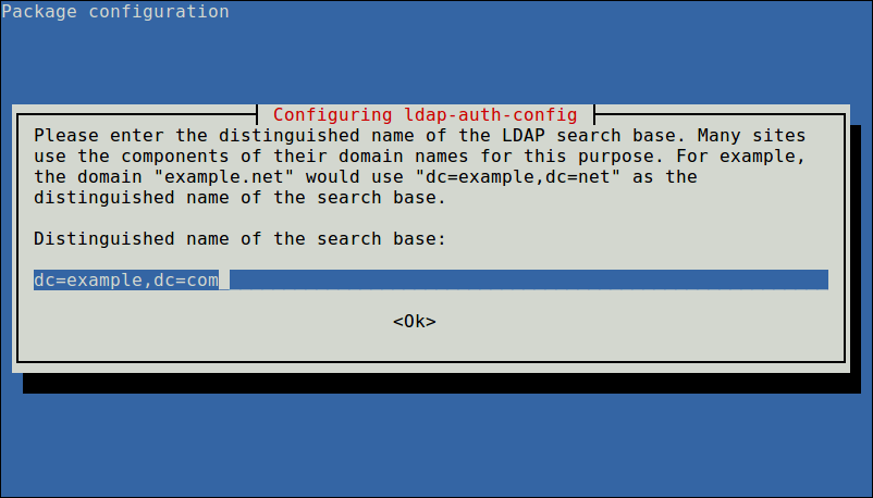 Enter LDAP Search Base