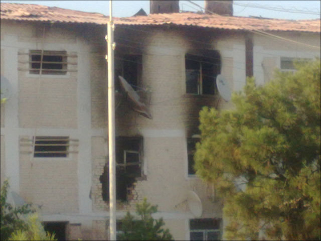 Effects of explosions in Abadan