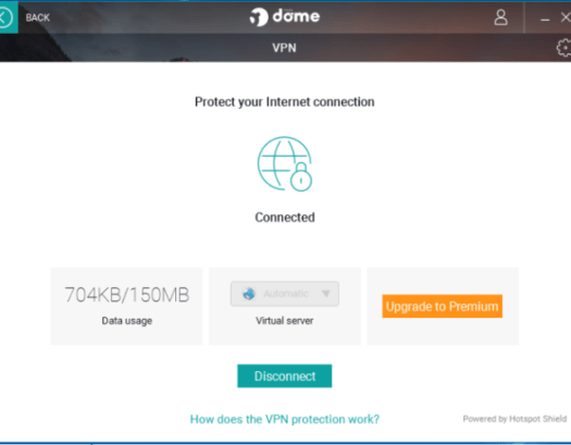 Panda VPN screenshot