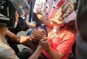 Mya Thwe Thwe Khaing shortly after she was wounded