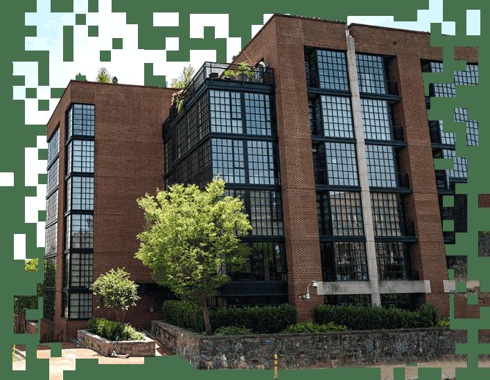 Photo of the Washington DC apartment block