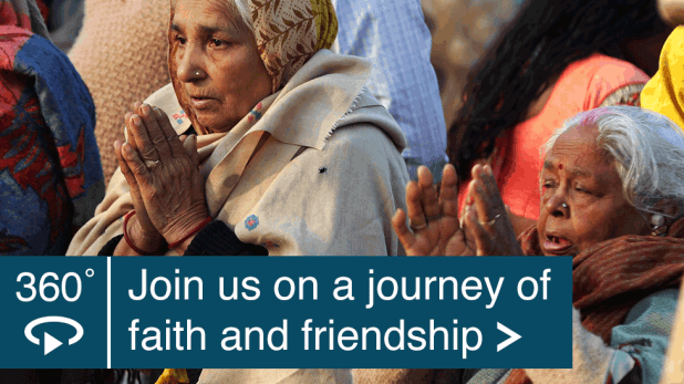 Launch 360 video on youtube.com: Join us on a journey of faith and friendship