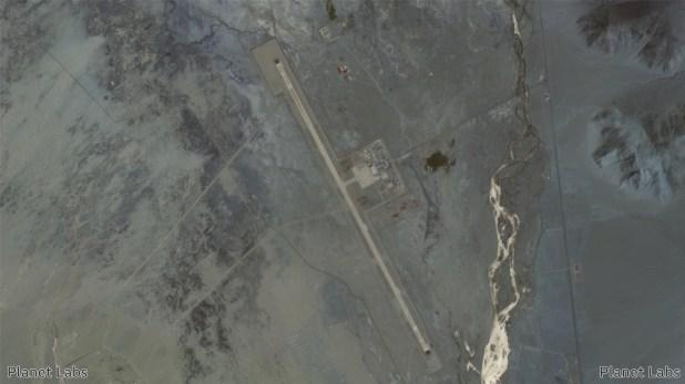 Satellite image of Ngari Kunsha Airport in China.  26 March 2020.