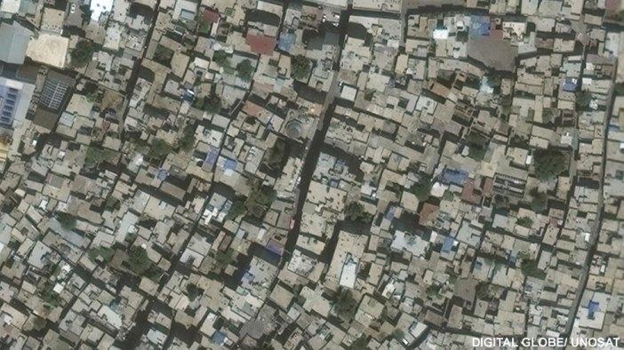 Satellite image of Sur in Turkey, June 2015