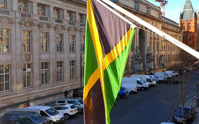 View from the Jamaica High Commission in February 2019
