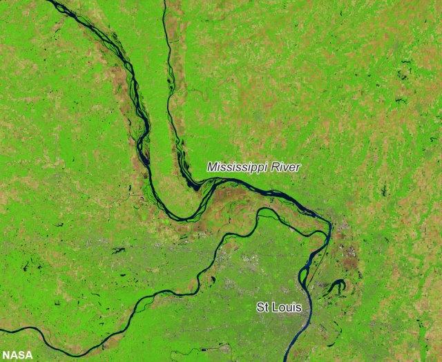 Mississippi River near St Louis