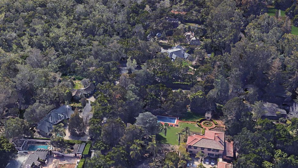 Montecito, East Valley Lane before the mudslides