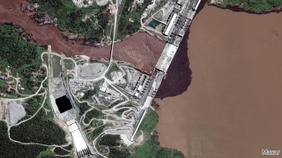 صورة فضائية لنهر النيل في شمال غربي أثيوبيا في 12 يوليو