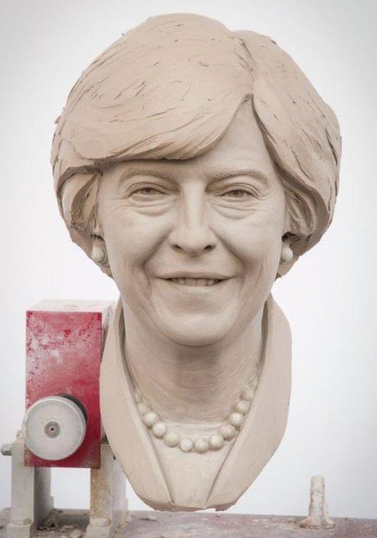 Waxwork model of Theresa May