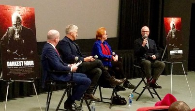 panelists after the Darkest Hour screening