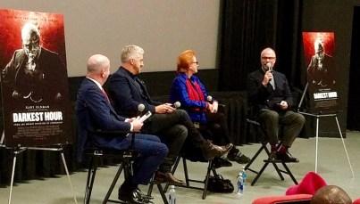 panelists after the Darkest Hour screening