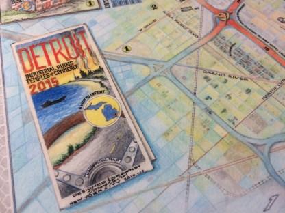 Donna David's map of Detroit