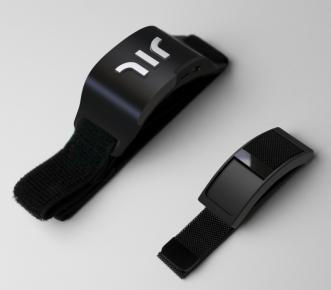 black haptic wristbands called the Wayband