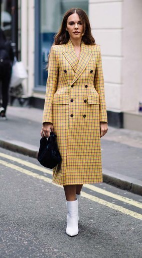 """Over the Top Outerwear:""""Tailoring is such a big trend,"""" Garcia says, particularly for outerwear. Among her favorites: Balenciaga's cartoonish 3D jackets (pictured here) and oversized overcoats from Calvin Klein and Stella McCartney."""