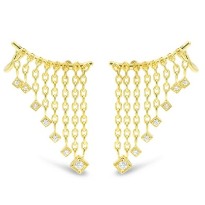 A 14K gold and diamond ear climber from Mazza's award-winning Holy Chic collection.