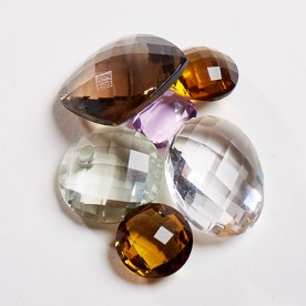Citrine and rock-crystal