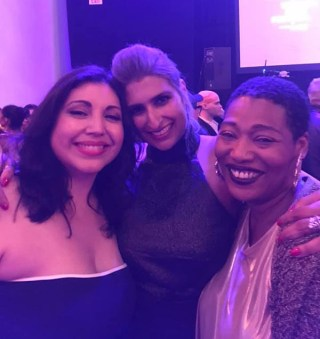Elena Romero, co-director Farah X, and author Joan Morgan