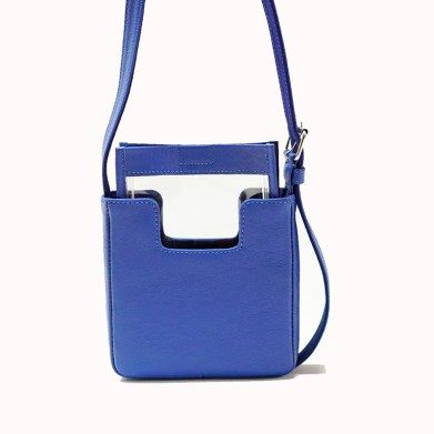 The Alea Bag in blue cowhide.