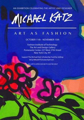 invitation to Michael Katz exhibition